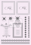 Fotografie collection of ornate vintage vector frames with sample text and ornament elements perfect as invitation or announcement all pieces are separate easy to change colors and edit