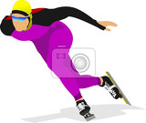 speed skating vector illustration for designers
