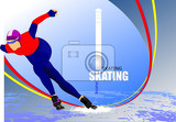 speed skating poster vector illustration