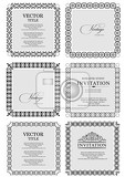 Photo collection of ornate vintage vector frames with sample text perfect as invitation or announcement all pieces are separate easy to change colors and edit eps 10 vector