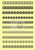 Fotografie collection of ornamental rule lines in different design styles