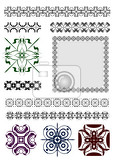 Photo collection of ornamental rule lines in different design styles vector illustration