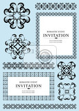 Photo collection of ornamental rule lines frames and design elements vector illustartion