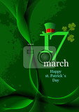 vector of green hats and shamrocks for st patrick