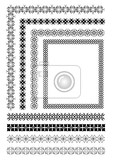 Fényképek collection of ornamental rule lines in different design styles eps10 vector