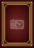 gold ornament on brown background can be used as invitation card or cover vector illustration