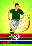 soccer player poster football player vector illustration