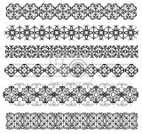 collection of ornamental rule lines in different design styles