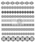 Photo collection of ornamental rule lines in different design styles