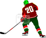 ice hockey player vector illustration