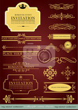 big collection of calligraphic design elements and page decoration  lots of useful elements to embellish your layout