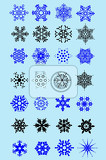 set of snowflakes as winter design element vector illustration
