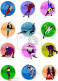 Fotografia winter sport silhouette icons vector illustration