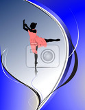 woman ballet dancers vector illustration