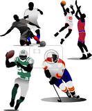 four kinds of team sport game vector illustration
