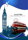 cover for brochure with london images vector illustration