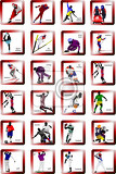 sport silhouette icons vector illustration
