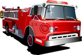 fire engine ladder isolated on background vector illustration