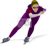 speed skating vector illustration