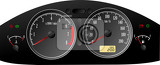 speedometer accelerating dashboard includes speedometer tachometer fuel control