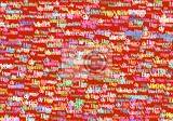 happy valentine day text color abstract background love concept