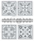 Fényképek decorative finishing ceramic tiles vector illustration