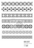 collection of ornamental rule lines in different design styles vector illustration