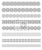 Fotografie collection of ornamental rule lines in different design styles vector illustration