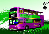 Fotografie purple city bus coach vector illustration