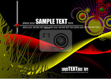 grunge abstract wave background vector illustration