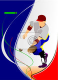 Photo baseball player vector illustration