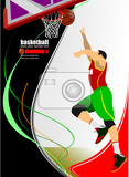 Fotografia basketball players vector illustration