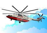 Photo ambulance helicopter vector illustration
