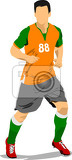 Fotografie soccer player poster football player vector illustration