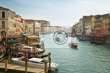 Fényképek panoramic view in the morning with backlighting of canal grande in venice italy july 5 2014 in venice italy only for editorial