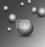 abstract technology background with polished balls