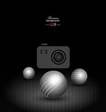 abstract technology background with balls for creative design