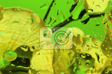 Fotografia color abstract background with water drops on glass with flower in background