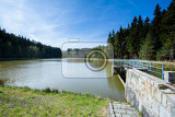 small water reservoir with blue sky czech republic