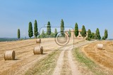 scenic view of typical tuscany country house