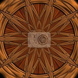 Fotografia background seamless tile with embossed mosaic pattern on polished wood