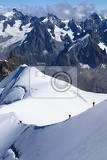 Mountains, glacier, people and sport. Alps, Chamonix - France.