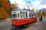 A narrow gauge tram in Liberec