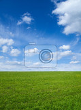 Photo landscape  green field and blue sky