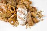 variety of brown bread and rolls  studio