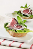 roast beef open faced sandwiches