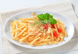 fresh fried french fries on plate