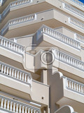 low angle view of a luxurious condominium or hotel