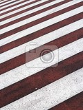 Photo red and white zebra crossing background