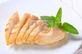 slices of grilled chicken breast fillet